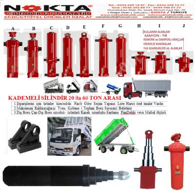 Konya Römork Hidrolikleri, Konya Damper Hidrolikleri, Konya 4 Kademe Hidrolik Satış, Konya 5 Kademe,