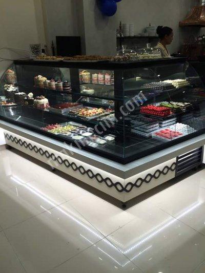 Satılık Sıfır Obk Pasta Teşhir Vitrini / Tatlı Dolabı Fiyatları İstanbul ahşap pasta dolabı,pastane teşhir vitrini fiyatı,tatlı dolap fiyatları,pasta dolap fiyatları,yaşpasta teşhir vitrinleri,doğaltaşlı pasta teşhir dolapları imalatı,mobilyalı pasta vitrini
