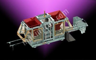Satılık Parke Briket Makinası Yarı Otomatik Çift Kova  25 Li