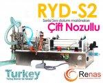 Ryd2-S 1000 Yarı Otomatik Çift Nozullu Sıvı Dolum Makinası 100-1000Ml