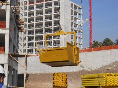 Kule Vinç Atık Taşıma Kovası -  Kule Vinç Çöp-Malzeme Taşıma Kovası