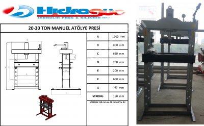 Hydraulic Press ..hidrogüç Pres 20-30 Ton Manuel Atölye Presleri