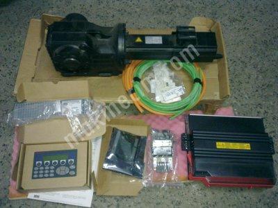 Ac Servo Motor  Redüktör  Sürücü  Kontrol Paneli Ve Kabloları