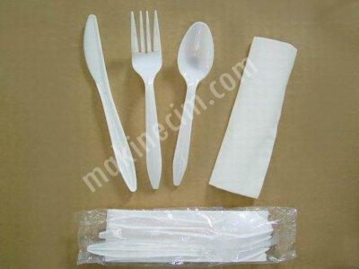 Plastık Çatal Kaşık Yemek Seti Ambalaj Makineleri