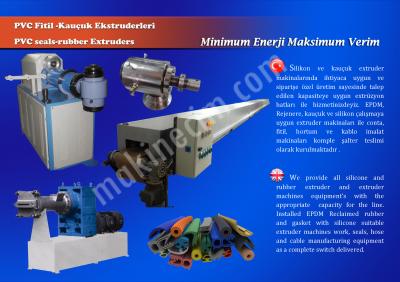 Rejenere Nitril Epdm Kauçuk Extrüzyon Makinası
