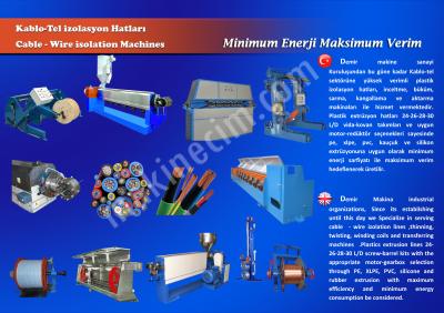 Satılık Sıfır KABLO TEL  İZOLASYON KAPLAMA EXTRÜZYON MAKİNALARI Fiyatları İstanbul tel kaplama,kablo makinası,kauçuk hortum,silikon hortum,pvc hortum,silikon conta,pvc fitil,boru makinası,makina imalatı,imalat hattı,plastik bodinozu,kauçuk kablo,silikon extruderi