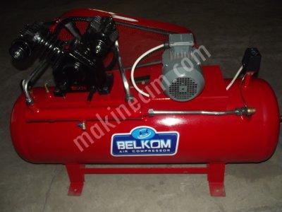 Belkom Marka 200Lt 8 Bar 380 Volt Üç Kafalı Kompresör