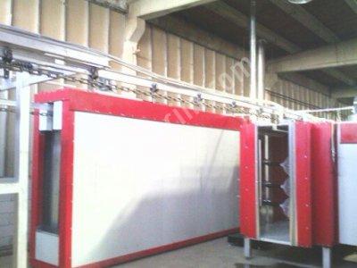 Satılık İkinci El sıprey hatlı toz boya tesisi 4 kazanlı 18 metre yıkama  10 metre kurutma 4 metre ikiz kabin 20 metre Fiyatları İstanbul h.m, makina,endüstri