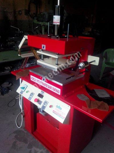Hidrolik Sistem Sıcak Baskı Makinesi Klişe Yaldız Varak Gofre Baskı Makinesi