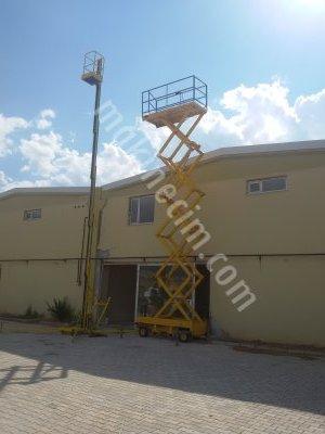 Kiralık 2. El MALATYA MAKASLI PLATFORM KİRALAMA Fiyatları Konya makaslı platform  personel yükseltici   manlift   menlift  tek direk   jeneratör