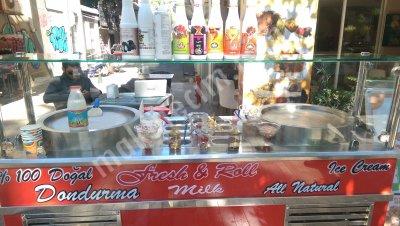 Satılık Sıfır tava dondurma Fiyatları Antalya tava dondurma rulo dondurma icepan icecream tailand usulü dondurma