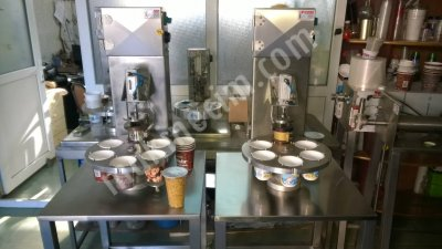 Satılık Sıfır Bardak Limonata Dolum ve Kapatma Makinesi Yarı Otomatik Fiyatları İstanbul AYRAN BARDAK MEYVESUYU DOLUM KAPATMA MAKİNA MAKİNE