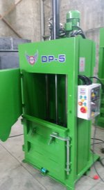 5 Tn  Luk  Dp5  Model  Hidrolik Kağıt Balya-Naylon Balya Makinesi=