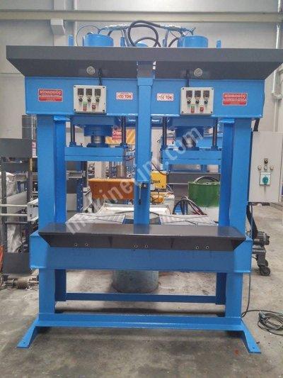 Satılık Sıfır Hydraulic Press ..Hidrolik pres - çift gözlü kauçuk presi 150 ton Fiyatları Konya hidrogucpres,hidrolikpres,kauçuk pres,hidrolik
