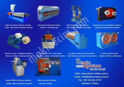 Sarıcı Toplayıcı Kangallama Makinaları Halat,ip,sicim,tel,kablo,hortum,boru,filament