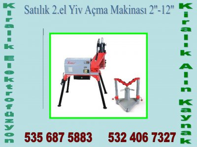 Satılık 2. El Kiralık Yiv Açma Makinası Fiyatları İstanbul kiralık elektrofüzyon,satılık elektrofüzyon,kiralık alın kaynak,satılık alın kaynak,yiv açma makinesi,tezgah pafta