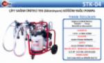Stk-0004 Mobil Çift Sağımlı Çift Alüminyum Güğümlü Yağlı Süt Sağım Makinası