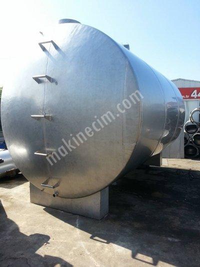 Paslanmaz Süt Su Yag Bal Sirke Tahin Depolama 50 Tonluk Yatay Dev Tank İmalatı