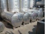 Paslanmaz Süt Su Yag Bal Sirke Tahin Depolama  Yatay Dev Tank İmalatı
