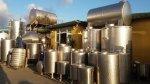 Paslanmaz Çikolata Stok Tankları Su Süt Yag Depoları Krom Çelik Depolar