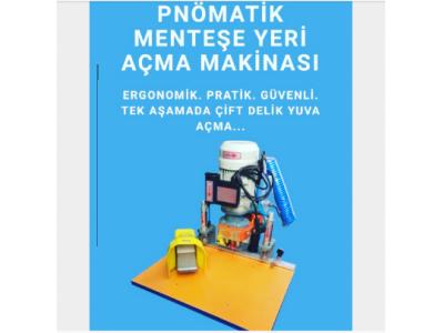Satılık Sıfır Öz Temsan Pnömatik Tas Mentese Yeri Açma  Makınası Fiyatları İstanbul tas mentese menteşe makinası makina