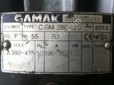 110 Kw 2800 Devir İkinci El Elektrik Motoru Gamak