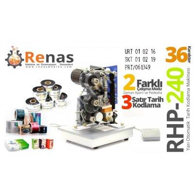 Rhp-240 Yarı Otomatik Tarih Kodlama Makinası
