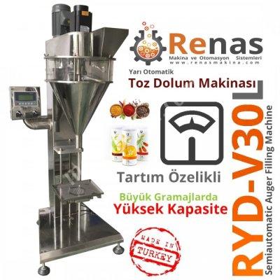 Satılık Sıfır Ryd-v30l Tartım Özellikli Vidalı Toz Dolum Makinası Fiyatları İstanbul toz dolum makinası,dolum makinası,dolum makinaları,dolum makinesi