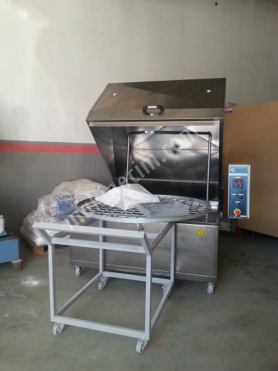 Otomatik Parça Yıkama Makinası,1250 Lik Döner Sepetli
