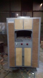 Stone Oven Bakery 125X150 Portable Gaz Ce Certified Manufacturing Fkn103