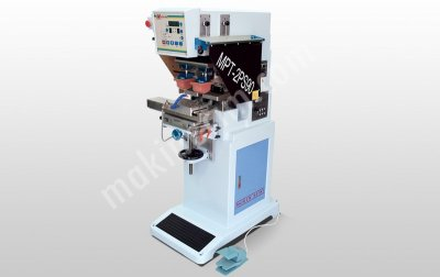 Tampon Baskı Makinesi 2 Renkli Açık Hazne