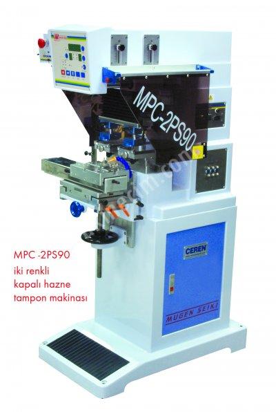 Tampon Baskı Makinesi 2 Renkli Kapalı Hazne