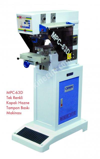 Mpc63D - Tek Renk Kapalı Hazne Tampon Baskı Makinesi