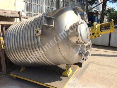 Paslanmaz Reaktör İmalatı Serpantinli Kazan İmalatı 2. El Yeni Krom Tank Kazan Su Deposu