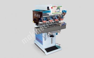 Tampon Baskı Makinesi 4 Renk Kapalı Hazne