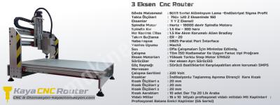 Süper Kaliteli 1.5 Kw Cnc Router Net İşleme 700 500 160Mm