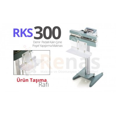 Rks-300 Kalın Çene Poşet Yapıştırma Makinası