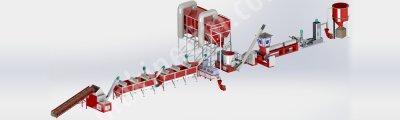Satılık Sıfır Saatlik 500-1000 Kg Kapasiteli Granür Geri Dönüşüm Hattı Fiyatları Gaziantep plastik kırma tesisi,500-1000 kg kapasiteli granür geri dönüşüm hattı,akromel makınası,yıkama havuzu,dik kurutma makinası