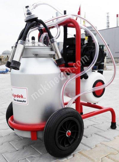 Süt Sağım Makinesi 40 Lt Aliminyum Güğümlü Tekli Sağımlı