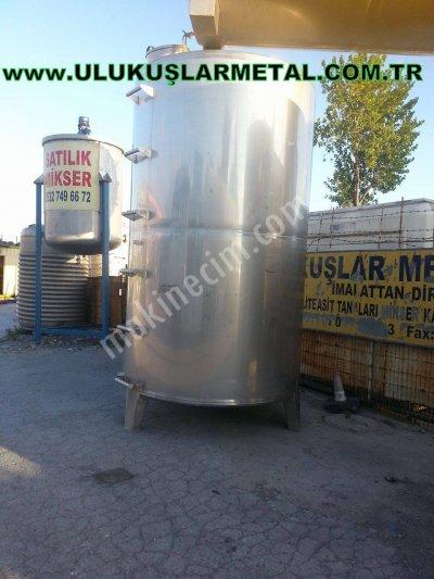 Paslanmaz Stok Depolama Tankı Su Depolama Süt Depolama Sıvı Yag Tankı