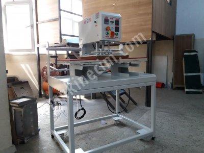 36*47 Cm Tam Otomatik Gezer Kafa Pnömatik Sistem Transfer Baskı Ve Taş Yapıştırma Presi