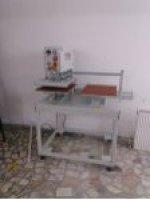 40×50 Cm Tam Otomatik Gezer Kafa Pnömatik Sistem Transfer Baskı Ve Taş Baskı Presi