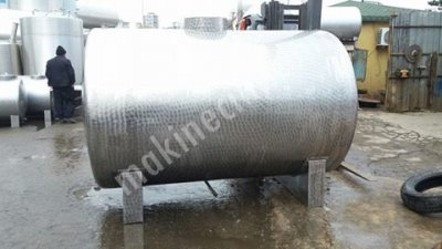 Paslanmaz Krom Depolama Tankı 15 Tonluk Sıvı Gıda Tankı Şarap Yag Süt