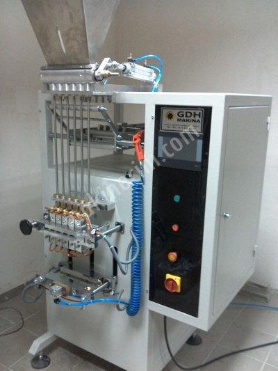 6 Kanallı 1-5 Gr. Stik Paketleme Makinesi (Fişek Şeker Mak.)