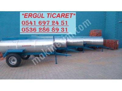 Sıfır Galvaniz 3 Tonluk Su Tankeri Su Tankı