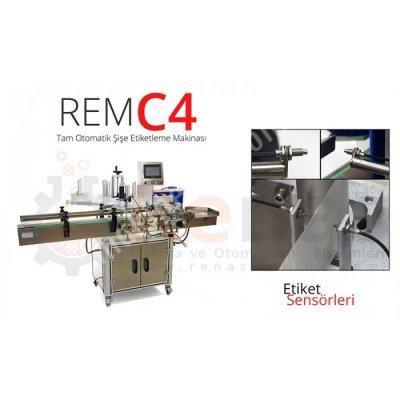 Rem-C4 Tam Otomatik Şişe Etiketleme Makinası