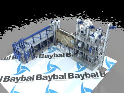Taş Değirmen Compact System 50-55 Ton Capacity /day  Un Fabrikası Temizleme Ve Öğütme Ünütesi