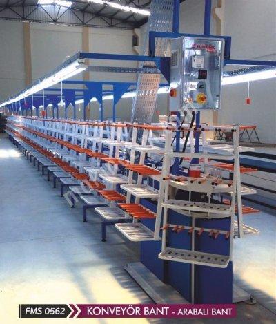 Satılık 2. El Ayakkabı Arabalı Konveyör Bantı Fiyatları İstanbul fantes,ayakkabı,konveyör,konveyor,üretim,imalat,ayakkabı üretimi,ayakkabı nasıl üretilir,otomatik konveyor