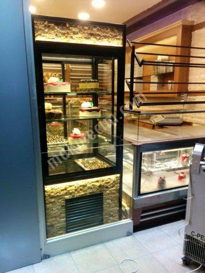 Satılık Sıfır Ydt- Dik Pasta Vitrini / Dikey Tatlı Dolabı Fiyatları İstanbul doğaltaşlı dik pasta dolabı,dik tip pasta vitrini,dikey pasta vitrinleri,dik pasta dolapları fiyat,dik çikolata dolabı,pasta teşhir vitrinleri taşlı