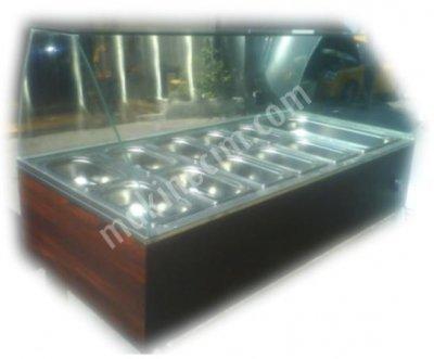 Setüstü Isıtıcı Yemek Vitrini / Set Üstü Benmari - 120Cm